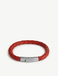 Eton Braided Leather Bracelet Pink Red