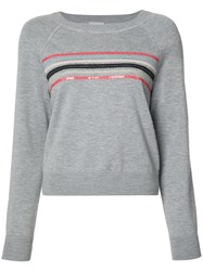 Grey Jason Wu Striped Sweatshirt Women Wool Xs Grey