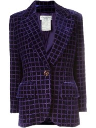 Christian Dior Vintage Velvet Blazer Pink And Purple