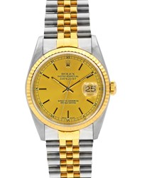 Rolex Pre Owned 18K Datejust Automatic Bracelet Watch Two