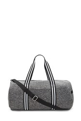 Forever 21 Active Marled Knit Gym Bag Charcoal Black