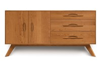 Copeland Furniture Audrey Buffet 3 Drawer On Right 2 Door On Left Black Light Brown Brown