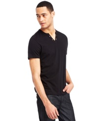 Kenneth Cole Reaction Eyelet T Shirt Black