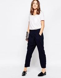 Greylin Era Wrap Front Trousers In Midnight