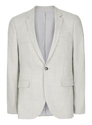 Topman Light Grey Skinny Fit Suit Jacket Containing Wool