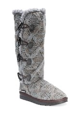 Muk Luks Felicity Faux Fur Lined Boot Gray