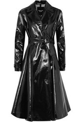 Calvin Klein 205W39nyc Double Breasted Coated Cotton Blend Trench Coat Black
