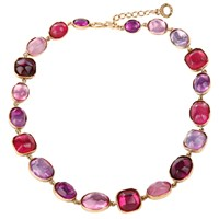 Goossens Paris Rock Crystal Necklace Pink