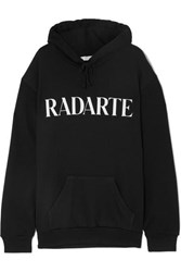 Rodarte Oversized Printed Cotton Blend Jersey Hoodie Black