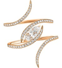 Christina Debs Diamond Tattoo 18Ct Pink Gold And Diamond Ring