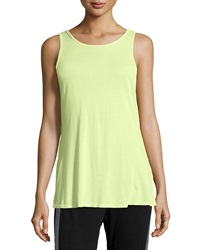 Pink Lotus Knit Surplice Back Tank Lime
