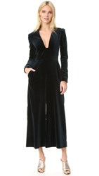 Temperley London Opus Velvet Jumpsuit French Navy