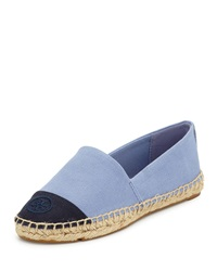 Canvas Cap Toe Espadrille Blue Tory Burch