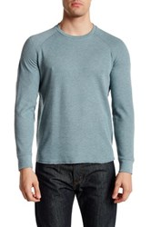 Grayers Athletic Thermal Crew Neck Pullover Green