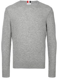 Moncler Long Sleeve Fitted Sweater Grey