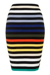 Multicoloured Striped Midi By Glamorous Black