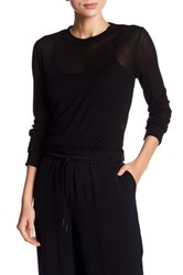 Dkny Extra Long Sleeve Rib Shirt Black