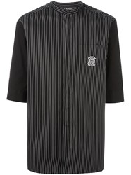 Neil Barrett Striped Shirt Black
