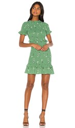 Likely Faye Dress In Green. Green And Black