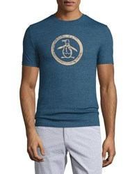 Penguin Circular Graphic Jersey T Shirt Teal