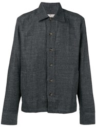 Canali Plain Shirt Jacket Grey