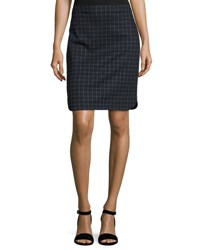 Max Studio Plaid Print Pencil Skirt Black Ch