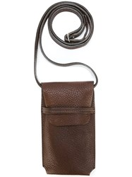 Ally Capellino 'Bobbie' Iphone Pouch Brown