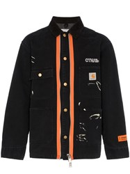 Heron Preston Customised Ctnmb Carhartt Contrast Zip Jacket Black