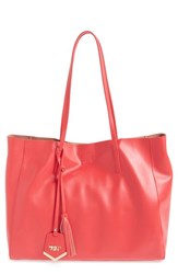 Poverty Flats By Rian 'Colorful' Faux Leather Shopper Coral