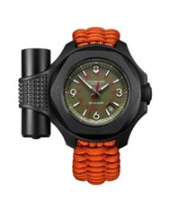 Victorinox I.N.O.X. Limited Edition Analog Dial Paracord Strap Watch Orange