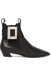 Roger Vivier Dolly Embellished Leather Chelsea Boots Black