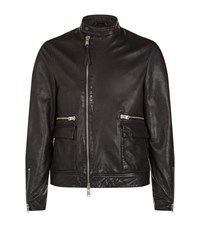 Allsaints Kallow Leather Biker Jacket Male Black