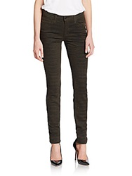 Joe's Jeans Animal Print Skinny Jeans Faded Olive