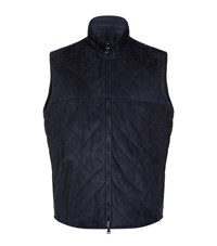Peter Millar Mayfair Reversible Suede Gilet Male Navy