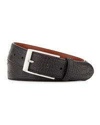 Robert Graham Clintwood Crocodile Embossed Belt Black