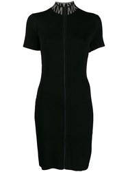 Michael Kors Zipped Knitted Dress Black