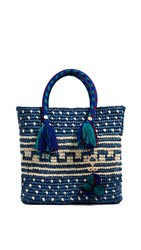 Yosuzi Kaena Medium Tote Blue Multi