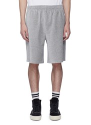 Alexander Wang Dancer Embroidered Velour Sweat Shorts Grey
