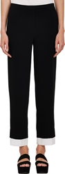 Edun Layered Cropped Trousers Black
