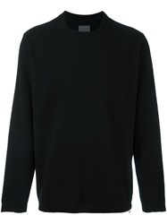 Laneus Zip Detail Sweatshirt Black