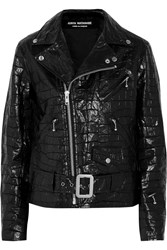 Junya Watanabe Croc Effect Coated Cotton Biker Jacket