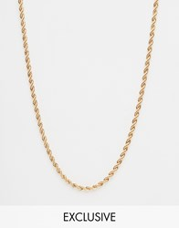Chained And Able Rope Necklace In Gold