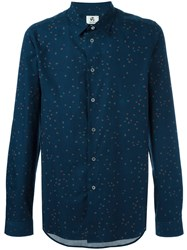 Paul Smith Ps By Allover Dots Print Shirt Blue