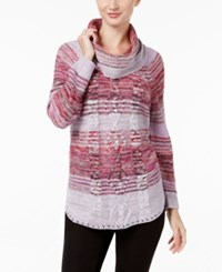 Jpr Marled Cable Knit Sweater Red Dusk