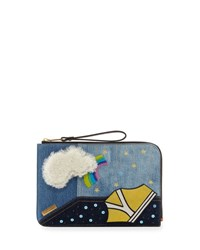 Marc Jacobs Clouds Flat Pouch Bag Blue Multi
