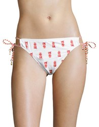 Tommy Bahama Pineapple Print String Bikini Bottom White