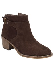 Phase Eight Bea Suede Ankle Boots Chocolate