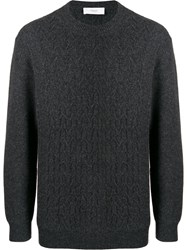 Pringle Of Scotland Cable Knit Sweater Grey