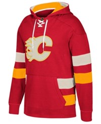 Ccm Men's Calgary Flames Pullover Jersey Hoodie Black
