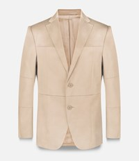 Christopher Kane Grid Single Breasted Tailored Jacket Nude And Neutrals